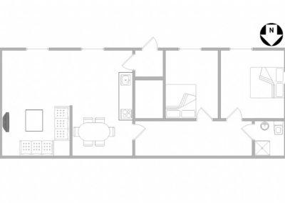 Grundriss - Guesthouse Hvide Sande